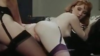 Retro - Office Lesbians Pussy & Ass Licking, Strap-On