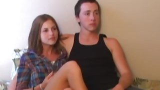 Retro teen couple trio with old pervert POV